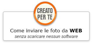 Creato per te - Come inviare foto da Web