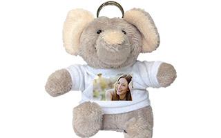 Portachiavi personalizzato con foto - Elefantino