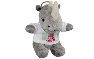 Portachiavi personalizzato con foto - Rinoceronte