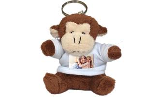 Portachiavi personalizzato con foto - Scimmietta