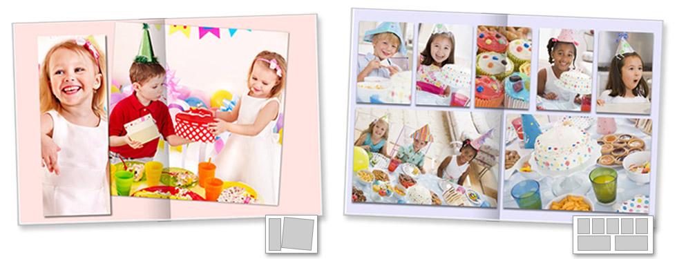 il design si adatta alle foto selezionate per il fotolibro