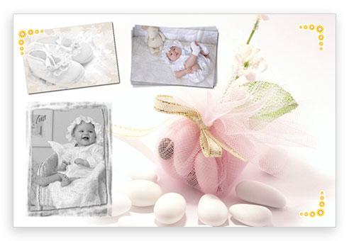 foto battesimo confetti