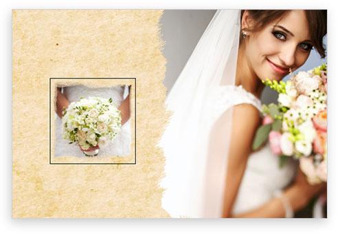 dettaglio matrimonio sposa con fiori