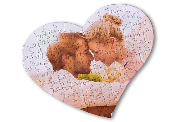 idee regalo per san valentino puzzle cuore