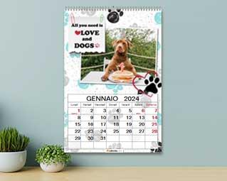 Calendario con foto animali