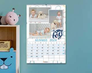 Calendario con foto bambini