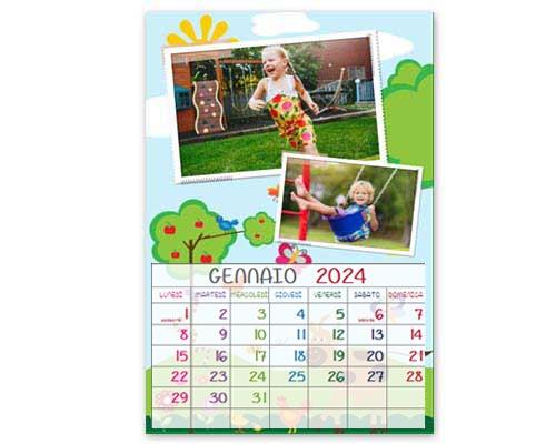 Calendario per bambini layout