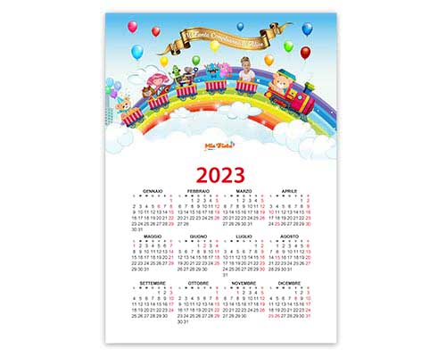 Calendario per bambini layout