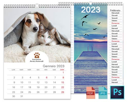 Calendario personalizzato con Photoshop