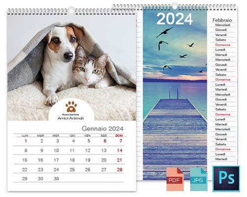 Calendario personalizzato con Photoshop