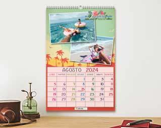 Calendario con foto viaggi
