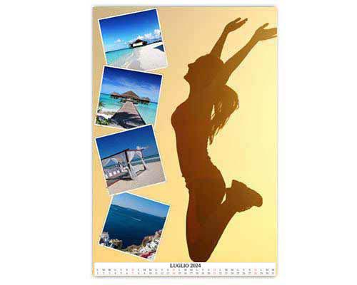 calendari con foto layout
