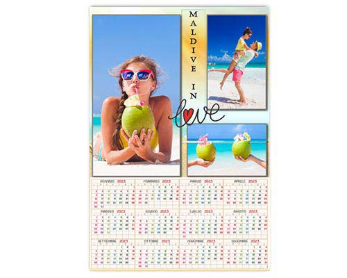calendario con foto personali layout