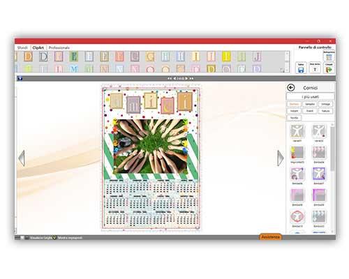 Effetti foto calendario personalizzabile