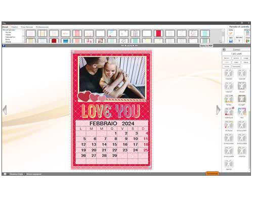 Effetti foto calendario con foto personali
