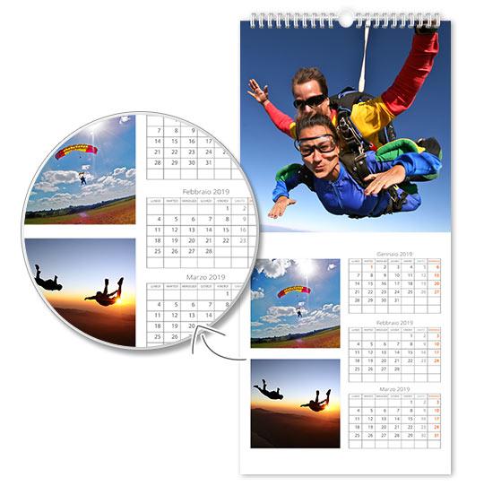 caratteristiche calendario con foto fine art 4 fogli