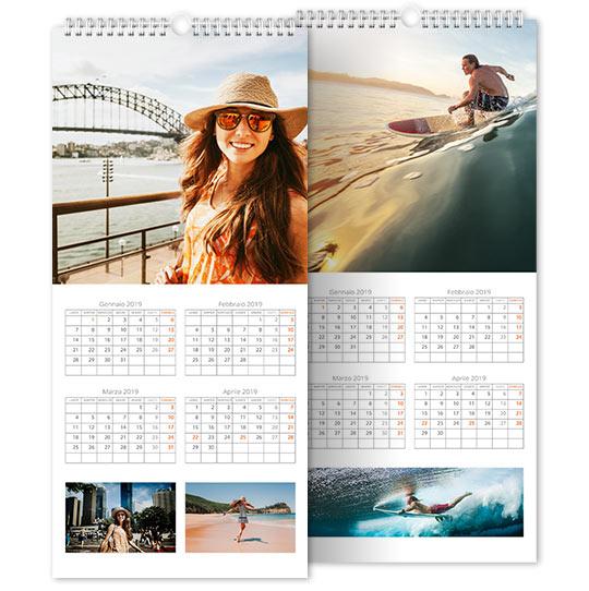 caratteristiche calendario personalizzato fine art 3 fogli