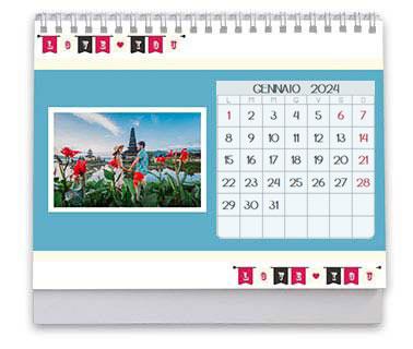 calendario da tavolo grafiche tema amore