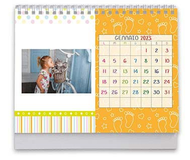 calendario da tavolo grafiche per bimbi