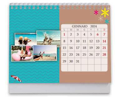 calendario da tavolo grafiche per viaggi
