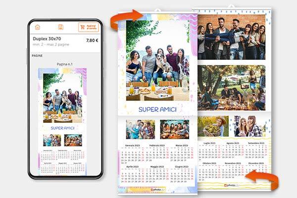 Calendario duplex crea con app