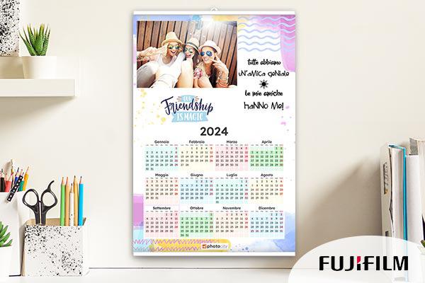 Calendari personalizzati su carta fotografica fujifilm e fine art - Calendario da tavolo con foto proprie ...