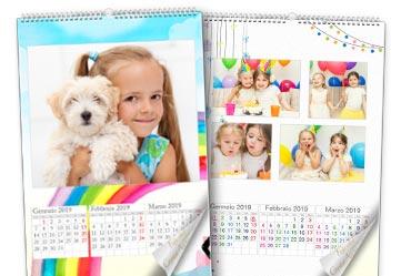 calendario fotografico 4 fogli