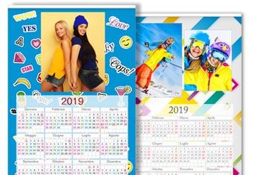 calendario fotografico 1 foglio