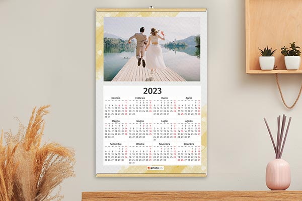 calendari un foglio canvas