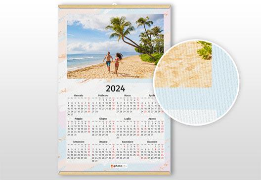 calendario personalizzato in tela