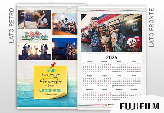 calendario fotografico fronte retro
