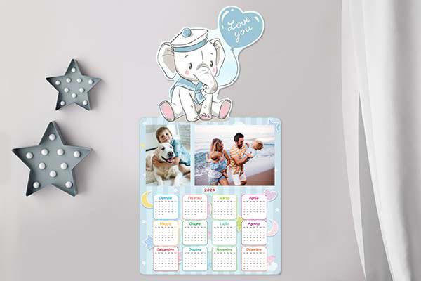 calendario mirai elefante azzurro