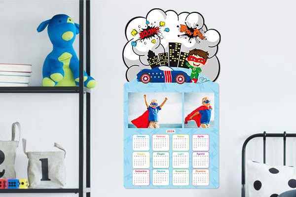 calendario mirai supereroi