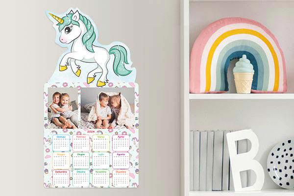 calendario mirai unicorno