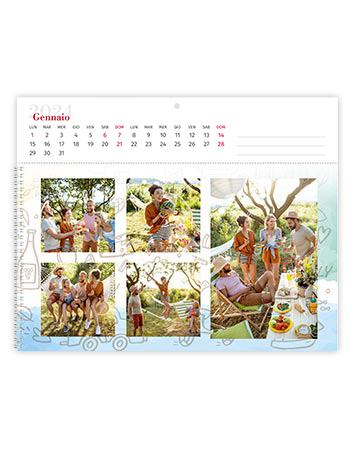 calendario fotolibro orizzontale