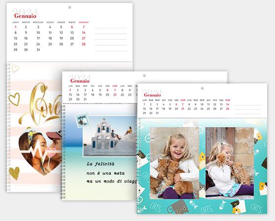 calendario fotolibro formati