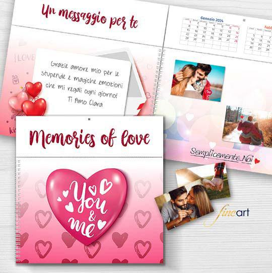calendario personalizzato Origami 30x30 Love