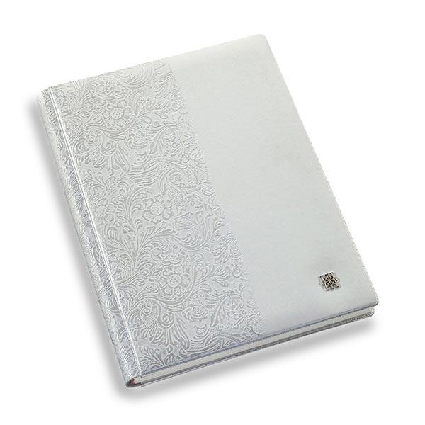 copertina officina libris blanco y flores