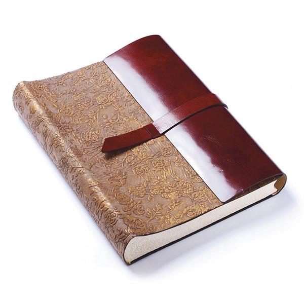 copertina officina libris rosa dorata