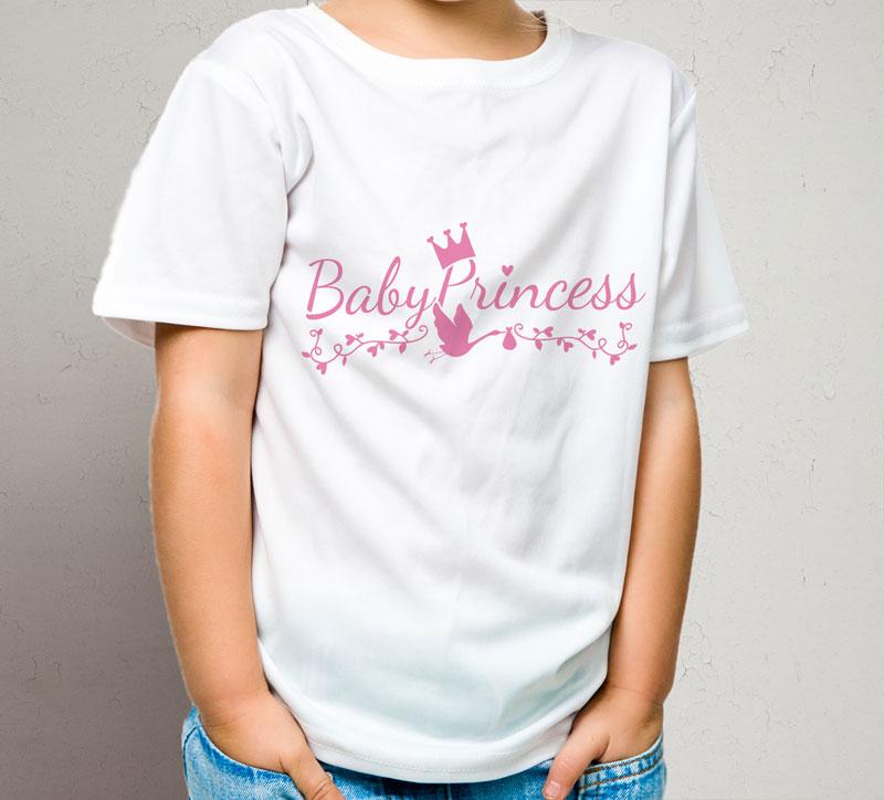 Maglietta bambina bianca