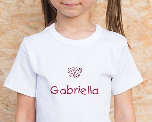ricami personalizzati t-shirt bambina