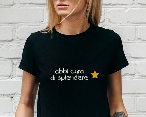 ricami personalizzati t-shirt donna