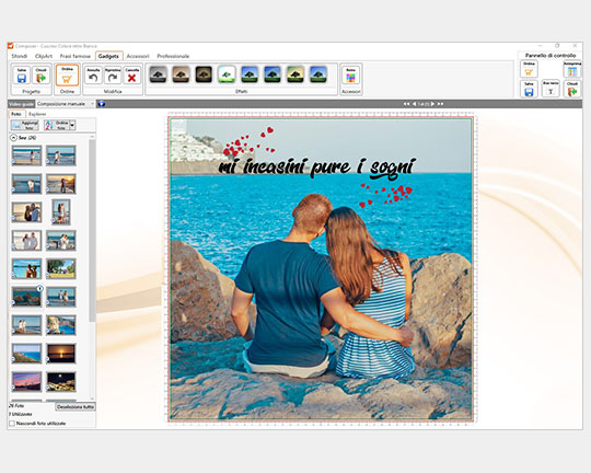 Crea cuscino con il software gratis