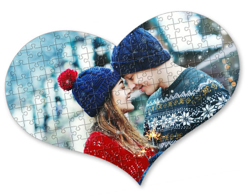Foto puzzle cuore