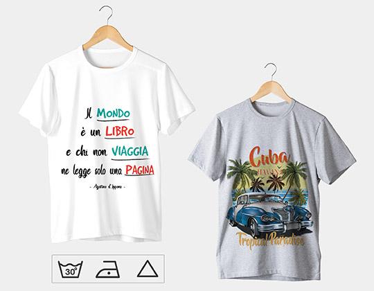 cura t-shirt personalizzate