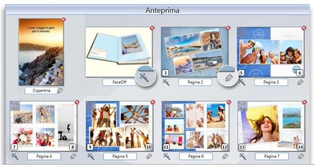 Photocity Silver - Visualizza velocamente anteprima del progetto del tuo fotolibro