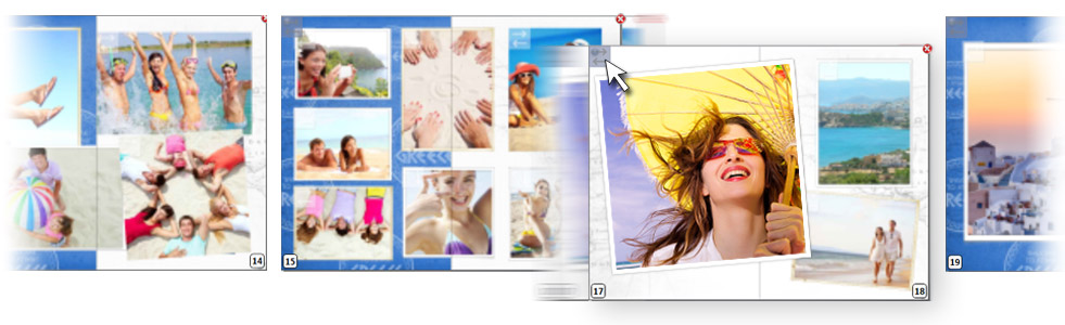 Photocity Silver - Sposta la posizione di una o più pagine del tuo fotolibro