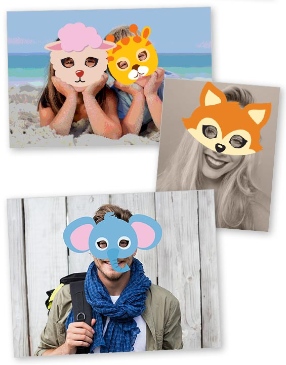 foto personalizzate con stickers animali