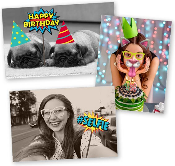 foto personalizzate con emoticon