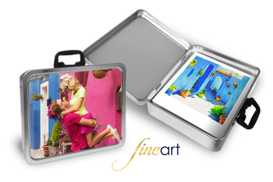 foto e valigetta in alluminio